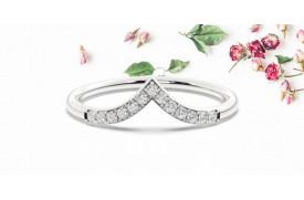 Notre guide des significations de la bague Wishbone avec diamants