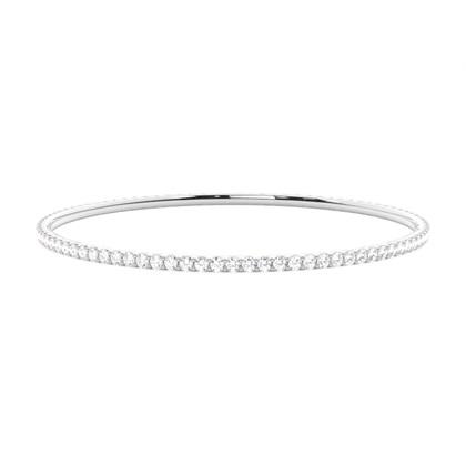 Bracelet jonc diamant rond serti 4 griffes 2.70ct