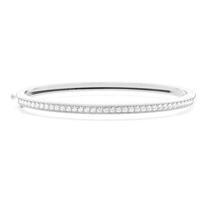 Bracelet jonc diamant rond serti pavé 0.80ct