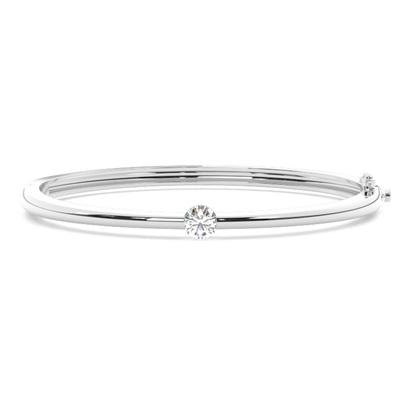 Bracelet jonc diamant rond serti rail 0.50ct