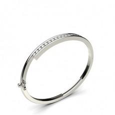 Bracelet jonc diamant rond serti rail 0.95ct