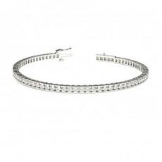 Bracelet rivière de diamants ronds serti rail