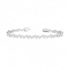 Bracelet tendance diamant rond serti clos