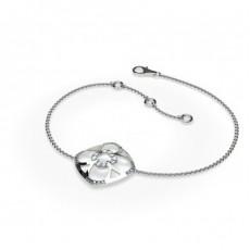 Bracelet délicat diamant rond serti pavé 0.20ct