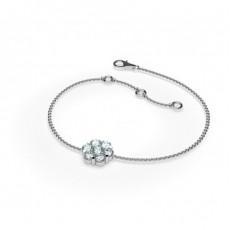 Bracelet délicat diamant rond serti pression 0.50ct