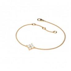 Bracelet délicat diamant rond serti 4 griffes