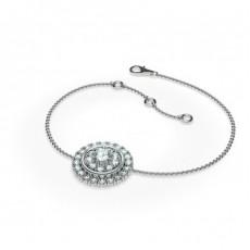 Bracelet délicat diamant rond serti 4 griffes 0.50ct