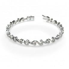 Bracelet tendance diamant rond serti pavé