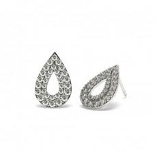 Boucles d'oreilles tendance diamant rond serti griffes en 0.70ct