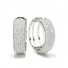 Boucles d'oreilles illusion diamant rond serti illusion 1.08ct