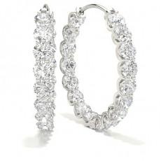 Boucles d'oreilles tendance diamant rond serti 4 griffes 0.70ct