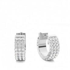 Boucles d'oreilles illusion diamant rond serti griffes 2.05ct
