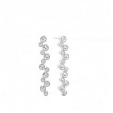 Boucles d'oreilles chute de diamants rond serti griffes 1.08ct