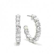 Puces d'oreilles diamant rond serti 3 griffes