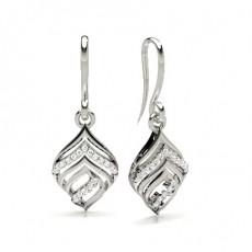 Boucles d'oreilles designer diamant rond serti griffes