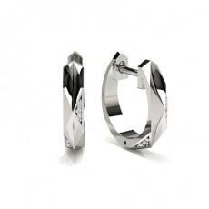 Boucles d'oreilles diamant rond serti pave