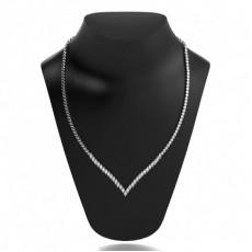 Collier rivière diamant marquise serti 2 griffes