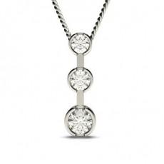Pendentif cascade diamant rond serti clos 1.00ct