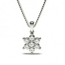 Pendentif illusion diamant rond serti griffes 0.25ct