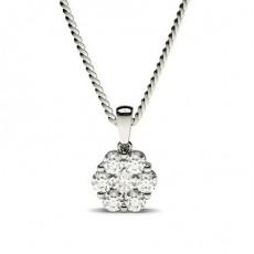Pendentif illusion diamant rond serti pincé 0.25ct