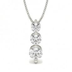 Pendentif cascade diamant rond serti 2 griffes