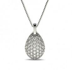 Pendentif tendance diamant rond serti pavé 0.70ct