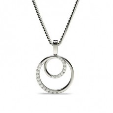 Pendentif délicat diamant rond serti griffes 0.15ct
