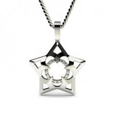 Pendentif délicat diamant rond serti griffes 0.05ct