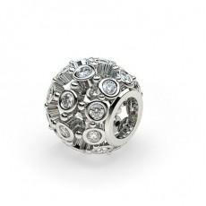 Charm diamant rond serti clos 0.35ct