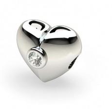 Charm diamant rond serti clos 0.20ct