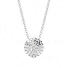 Pendentif tendance diamant rond serti 4 griffes 1.31ct