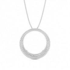 Pendentif illusion diamant rond serti 4 griffes 1.55ct