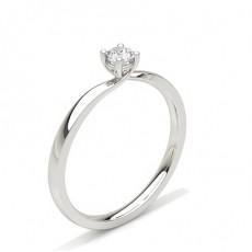 Bague mini diamant rond serti 4 griffes