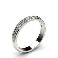 Alliance diamant rond standard profil pointe éffilée