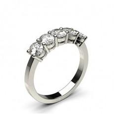 Bague 5 pierres diamant Oval serti 4 griffes