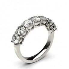 Bague 7 pierres diamant Oval serti 4 griffes
