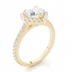 Bague 3 pierres diamant princesse serti 4 griffes et barette