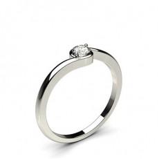 Bague mini diamant rond serti 2 griffes