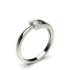 Bague mini diamant rond serti rail