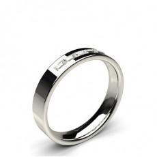 Alliance diamant en confort profil plat baguette serti rail 4.00mm