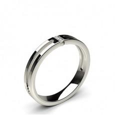 Alliance diamant rond confort profil plat serti rail 3.20mm
