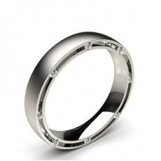 Alliance diamant confort rond homme serti rail 4 mm