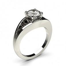 Bague de fiançailles solitaire diamant serti 4 griffes rondes