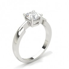 Bague de fiançailles solitaire diamant serti 4 griffes carrées