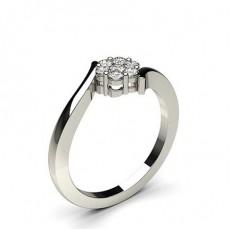 Bague illusion diamant rond serti pincé en 0.30ct