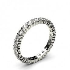 Alliance tour complet diamant rond serti 4 griffes
