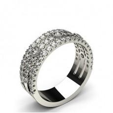 Bague fantaisie diamant rond serti 4 griffes et clos en 0.80ct