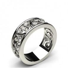 Bague fantaisie diamant rond serti 3 griffes en 0.53ct
