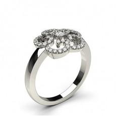 Bague fantaisie diamant rond serti 5 griffes en 0.33ct
