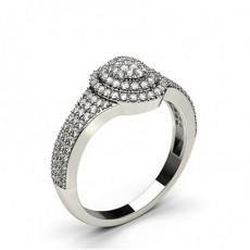 Bague fantaisie diamant rond serti griffes en 0.50ct